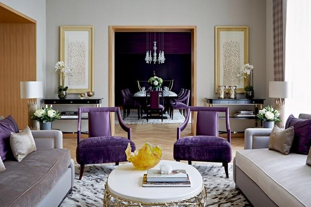luxury contemporary apartment design inspiration The Best Design Inspiration By Taylor Howes Taylor Howes One Kensington Gardens Reception1