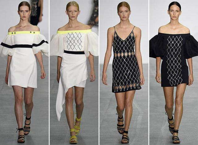 david_koma_London Fashion Week_Trends london fashion week London Fashion Week: celebrating the trends for next seasons David Koma spring summer 2017 collection London Fashion Week8