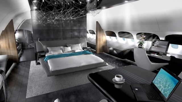 Jet design interiors Outrageous Interiors In Outrageous Places That Will Surprise You Private jet interior design render