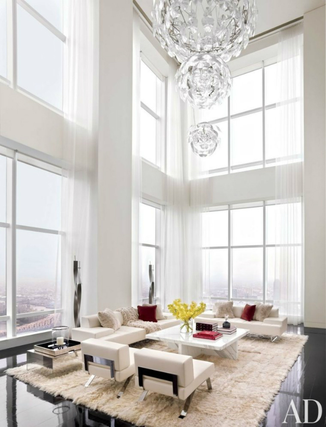 The Most Sophisticated Living Room Ideas In Architectural Digest_New York Penthouse by ODA-Architecture living room ideas The Most Sophisticated Living Room Ideas In Architectural Digest interieur blanc salon moderne design deco
