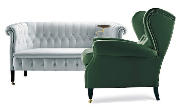 Luxury made luxury made BEST DESIGN FURNITURE TRENDS FROM LUXURY MADE LONDON 2016 poltrona frau fumoir sofa and 1919 armchair