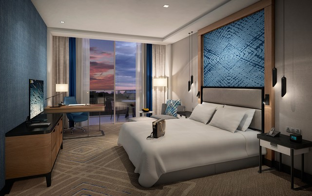 interior design ideas decorating ideas 7 Brilliant Decorating Ideas By Areen Design You Will Want To Copy Hospitality Cape Sierra Hilton Guest Bedroom Night View