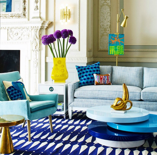 Winter Mood: Colorful Living Room Ideas To Copy From Jonathan Adler living room ideas Winter Mood: Colorful Living Room Ideas To Copy From Jonathan Adler HM1