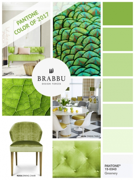 How To Decorate With Greenery, Pantone Color Of The Year 2017