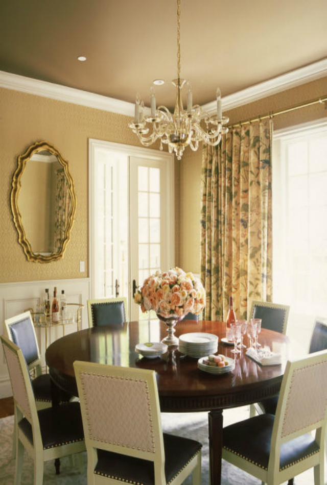 decorating ideas 10 Stunning Decorating Ideas To Style A Round Dining Room Table redmond aldrich