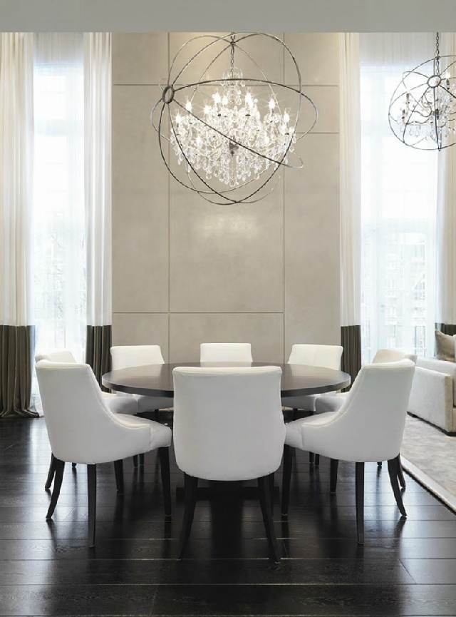 5 great dining rooms from the best uk designers for Contemporary formal dining room ideas