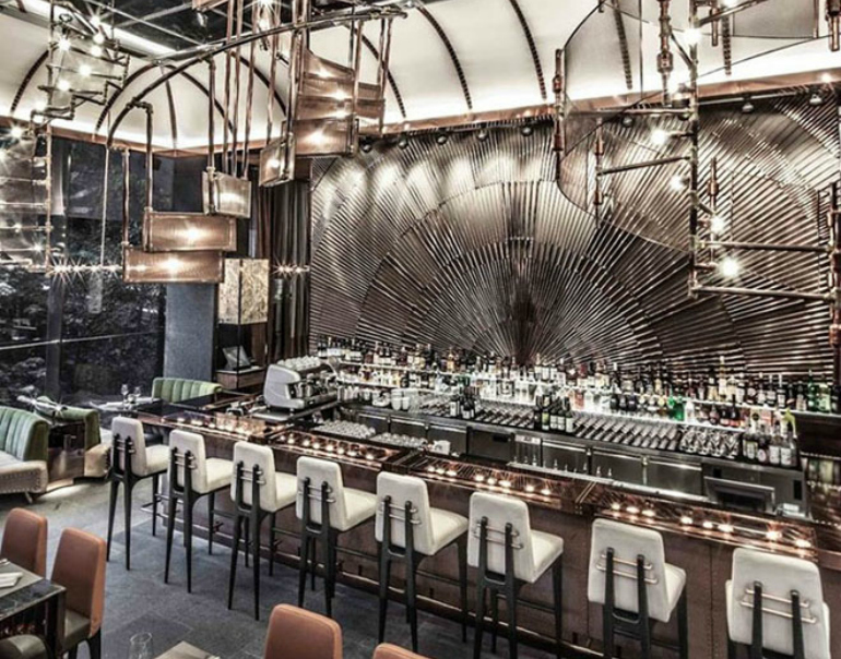 7 Stunning Bar Stools From Hospitality Interiors In The World bar stools 7 Stunning Bar Stools From Top Hospitality Interiors 7 restaurant design ammo hong kong china 1
