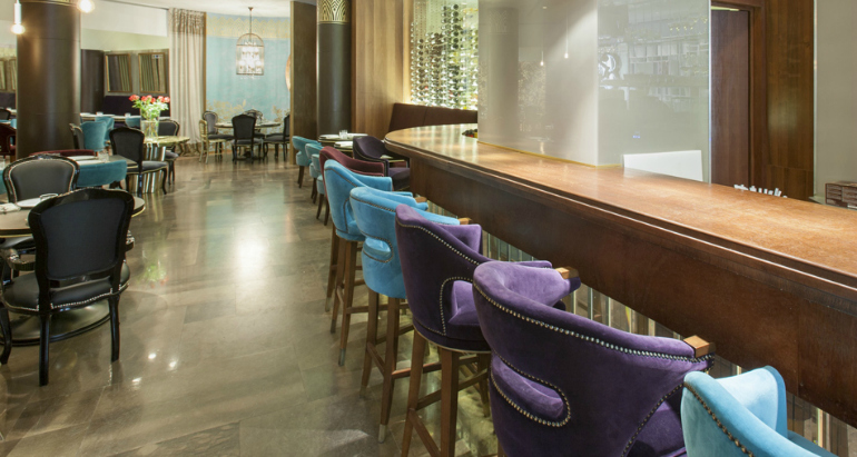 7 Stunning Bar Stools From Hospitality Interiors In The World bar stools 7 Stunning Bar Stools From Top Hospitality Interiors cococo restaurant by home collection st petersburg 2
