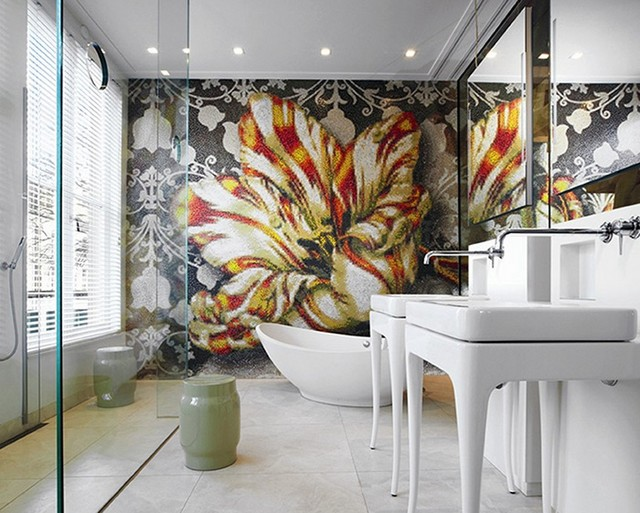 9 Breathtaking Home Decor Ideas To Steal From Marcel Wanders   9 Breathtaking Home Decor Ideas To Steal From Marcel Wanders Bathroom Mosaic Private Residence Amsterdam