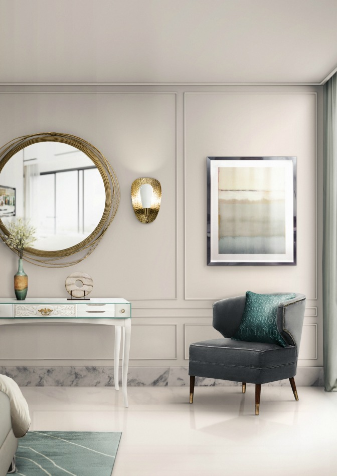 13 fantastic ways to add color to a bedroom decor for Bedroom mirror inspiration