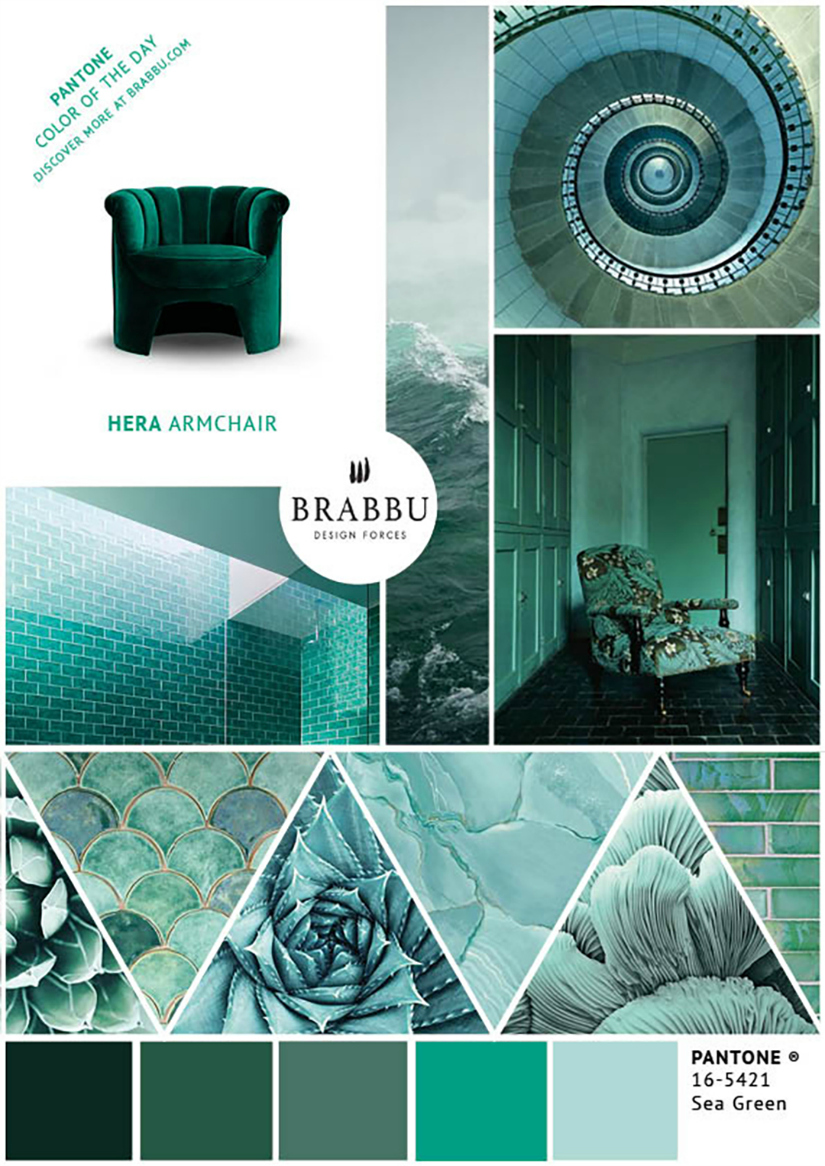 A Week In Colors: Five Color Trends To Add To Your Home Decor XI |home decor, color trends, modern interior design #colortrends #interiordesign #homedecor  home decor A Week In Colors: Five Color Trends To Add To Your Home Decor XI Sea Green