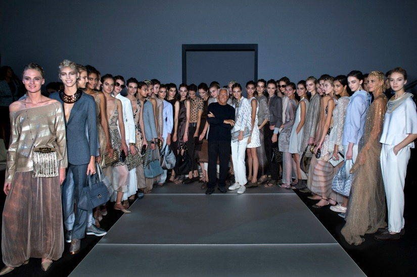 Designers To Look Out For at London Fashion Week London Fashion Week Designers To Look Out For at London Fashion Week Giorgio Armani and models1