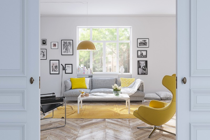 Summer Inspired Summer Inspired Designs For Living Rooms light yellow living room