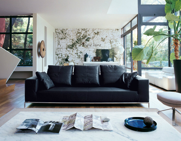 fall winter trends Fall Winter Trends: The Design Trends to Rock this Season Decor Black leather sofa