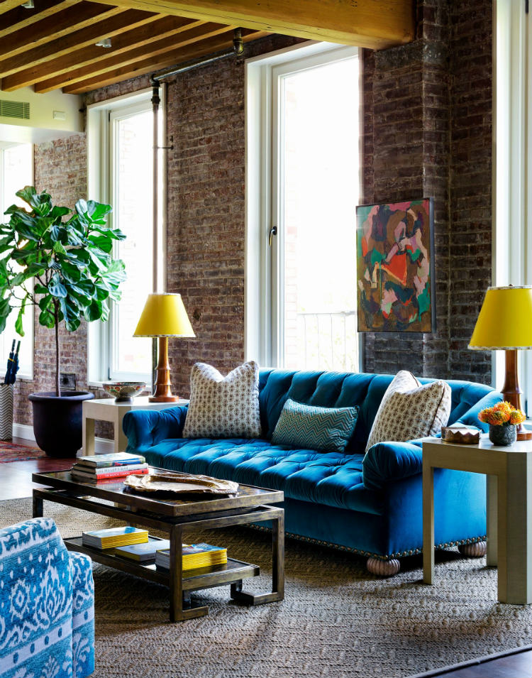 Blue Sofa Living Room Decor Fine Living Room Ideas