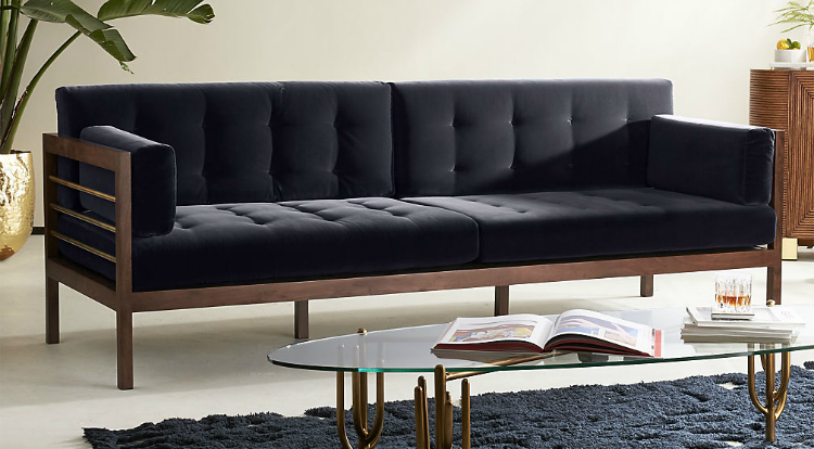 velvet sofas How To Use Velvet Sofas in Your Living Room Decor cb2