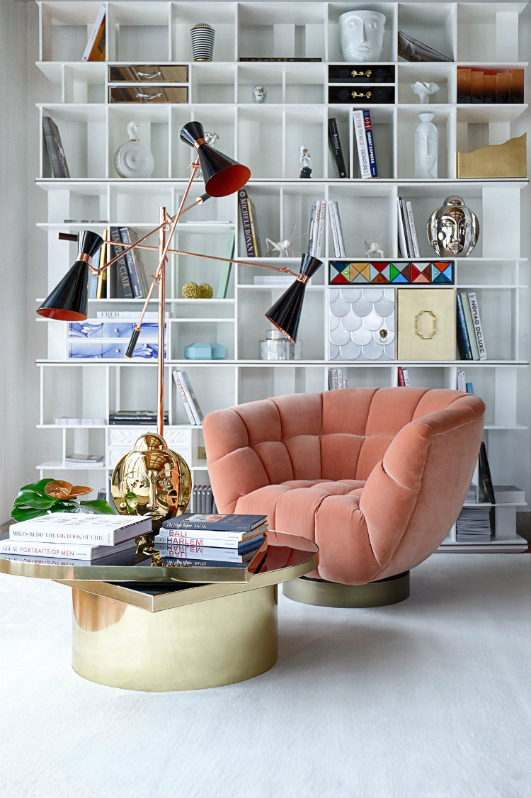 pantone color of 2019 The New Pantone Color of 2019: Living Coral Essex Armchair
