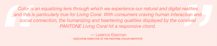 Pantone Color of 2019: Living Coral pantone color of 2019 The New Pantone Color of 2019: Living Coral Leatrice Eiseman Speech