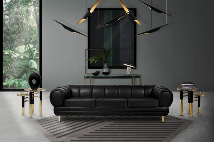 Leather sofas leather sofas Embrace the New Year with These Stunning Black Leather Sofas novak sofa