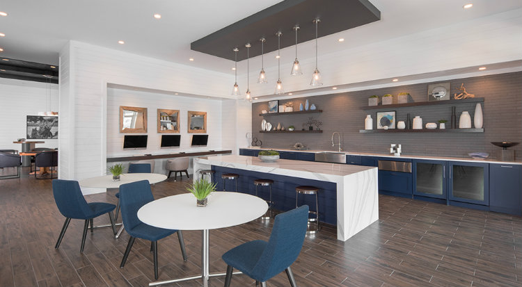 Cline Design - Element Barclay, Apartments cline design Cline Design: Sustainable Design For All Cline Design Element Barclay Apartments