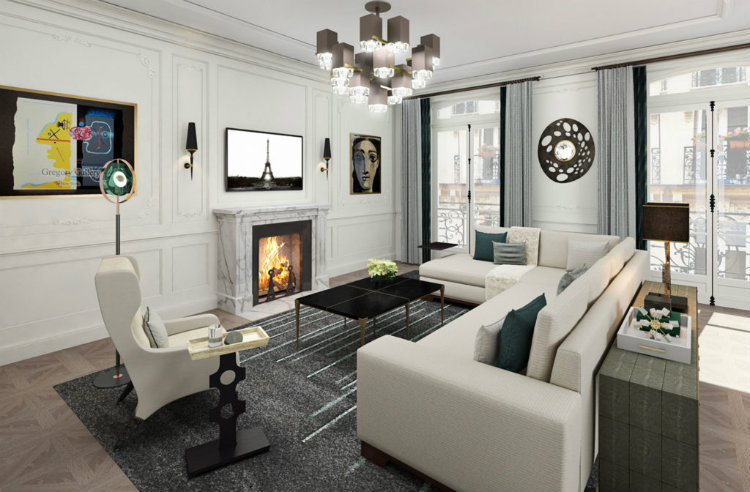 Annette English + Associates - Paris Pied a Terre annette english Annette English + Associates: High-end Design From Los Angeles Annette English Paris Pied a Terre