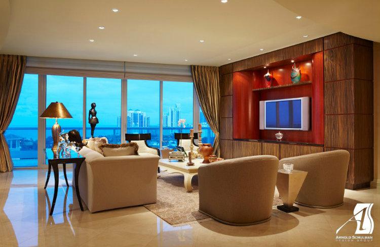 Top 5 Interior Designers Miami - Arnold Schulman Design Group interior designers miami Top 5 Interior Designers Miami Arnold Schulman Design Group Porto Vita Aventura Living Room