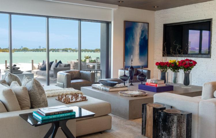 Top 5 Interior Designers Miami - DiMare Design  interior designers miami Top 5 Interior Designers Miami DiMare Design Waterfront Miami Residence