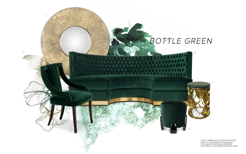 Bottle Green bottle green Interior Design Trends: Bottle Green Allows Nature Into Your Space Interior Design Trends Bottle Green Allows Nature Into Your Space 5