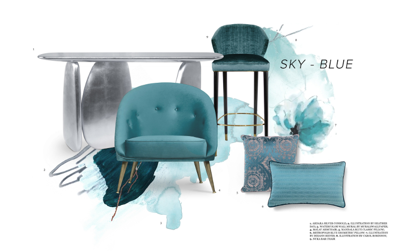 Sky Blue sky blue Interior Design Trends: Go Up in the Air with Sky Blue Interior Design Trends  Go Up in the Air with Sky Blue