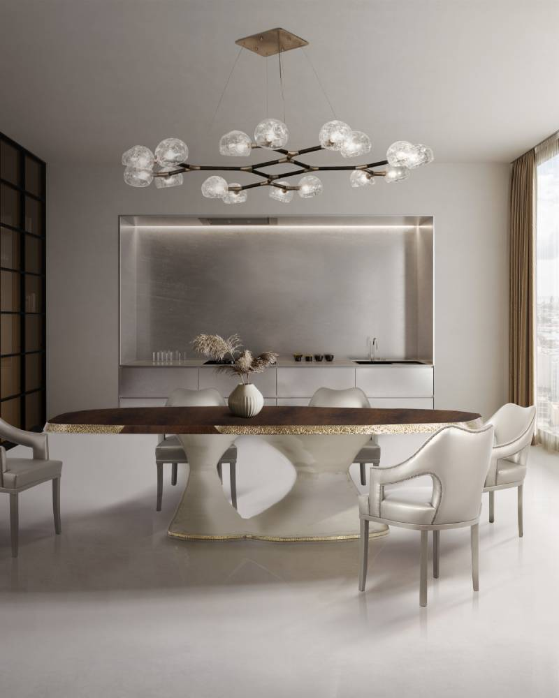 10 Stunning Projects from Los Angeles Interior Designers 10 stunning projects from los angeles interior designers 10 Stunning Projects from Los Angeles Interior Designers BB plateau table n20 chair dining horus suspension light 1