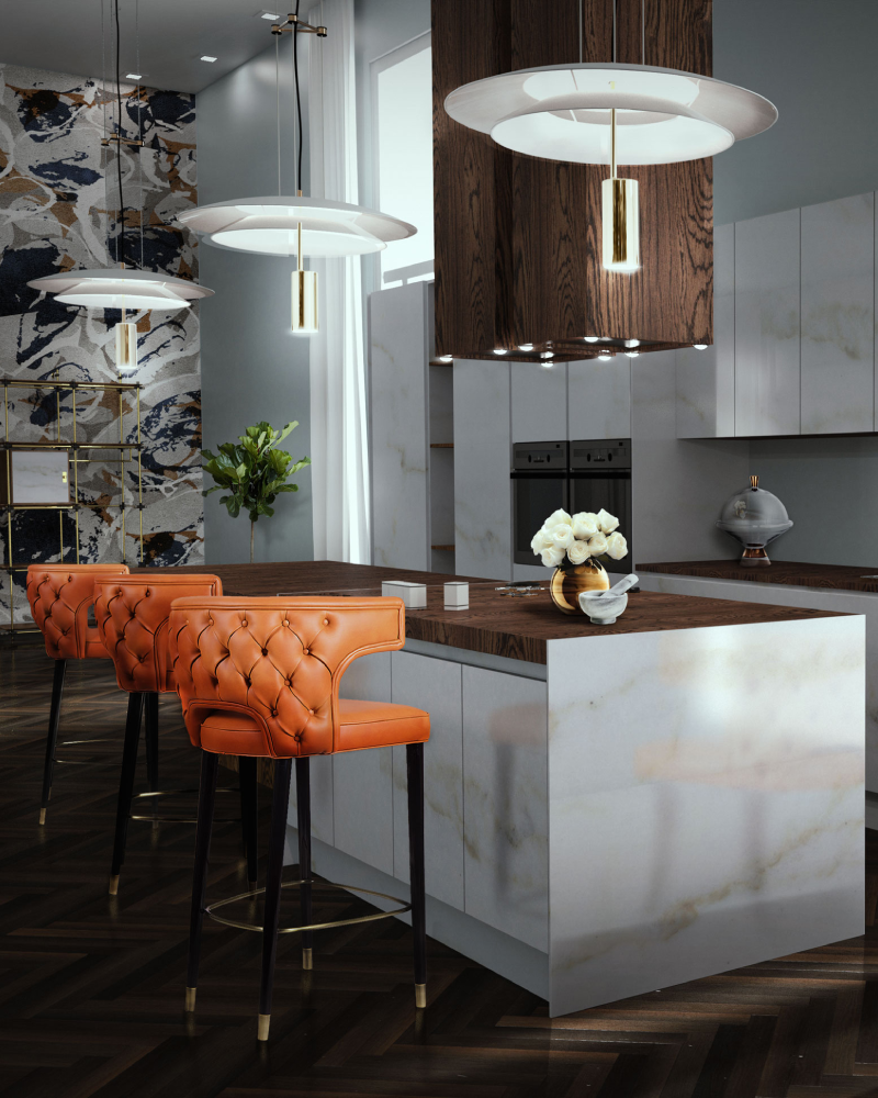 Bali Designers, Our Top 20 Interior Designers Choice bali designers Bali Designers, Our Top 20 Interior Designers Choice Contemporary Kitchen With Orange Kansas Dining Chairs