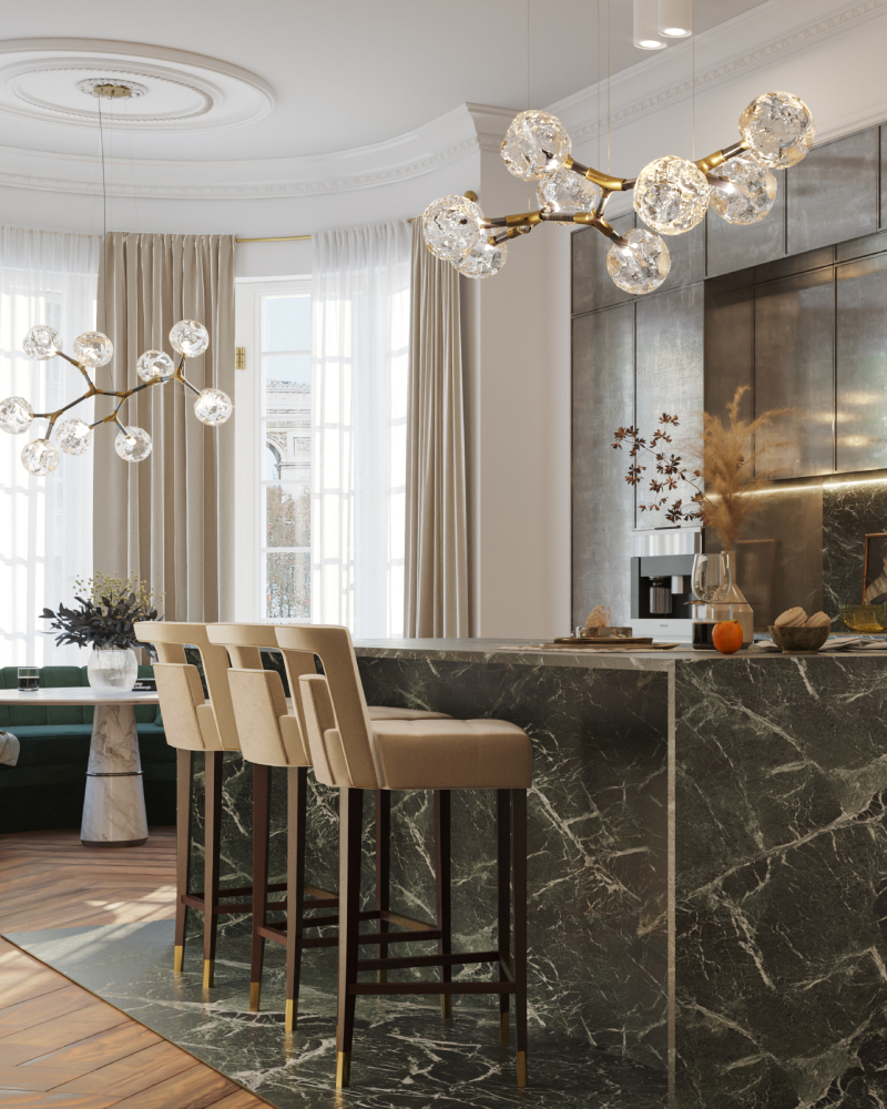 10 stunning projects from los angeles interior designers 10 Stunning Projects from Los Angeles Interior Designers Kitchen Bar 800x1000 2