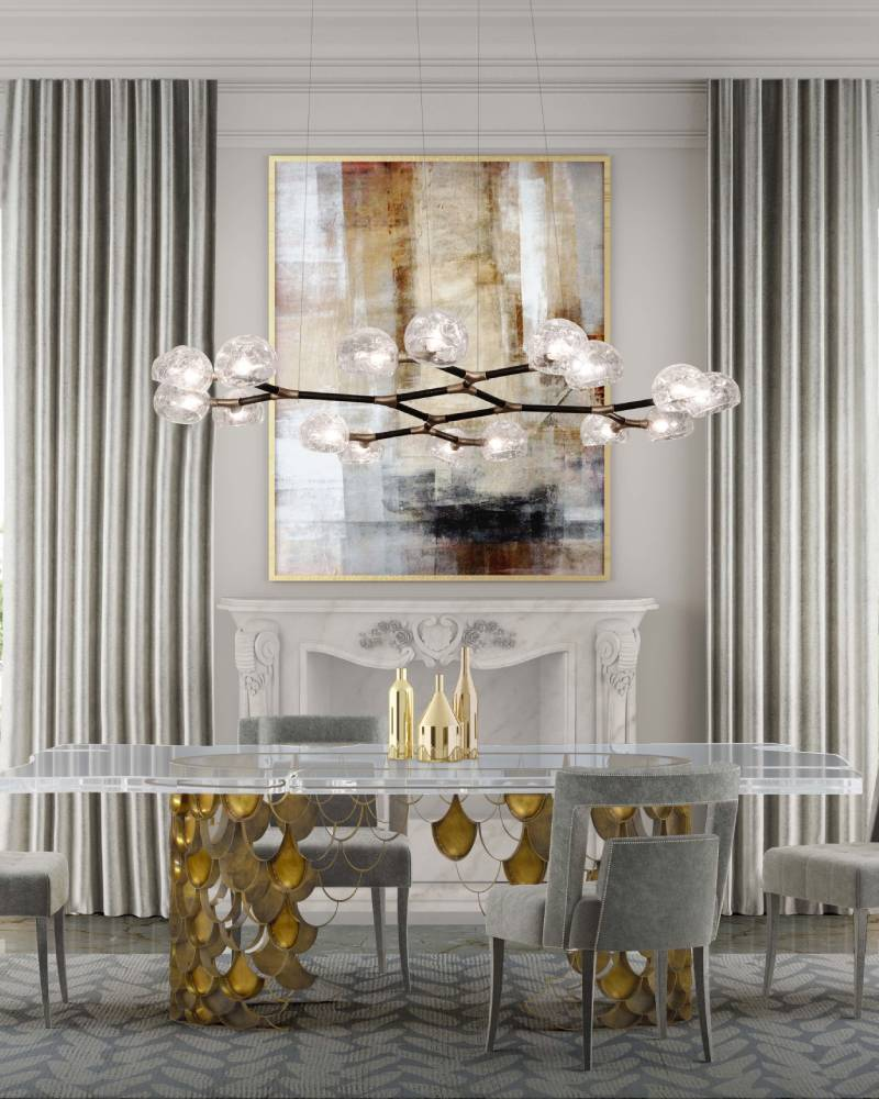 10 Stunning Projects from Los Angeles Interior Designers 10 stunning projects from los angeles interior designers 10 Stunning Projects from Los Angeles Interior Designers koi table naj chair dining horus suspension light wari rug