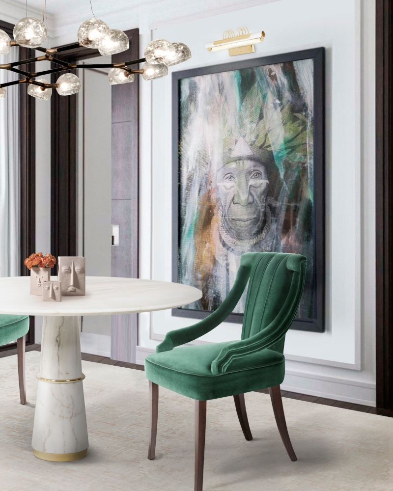 romanek studio projects ROMANEK STUDIO PROJECTS: Crème de la Crème Interiors from Los Angeles Modern Dining Room with Cayo Dining Chair 2