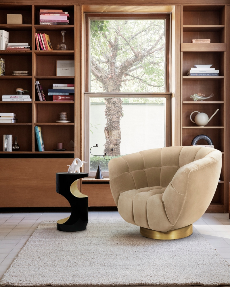 Modern Interior Projects from the Top Designers in Los Angeles modern interior projects from the top designers in los angeles Modern Interior Projects from the Top Designers in Los Angeles Neutral Library with Essex Armchair 2