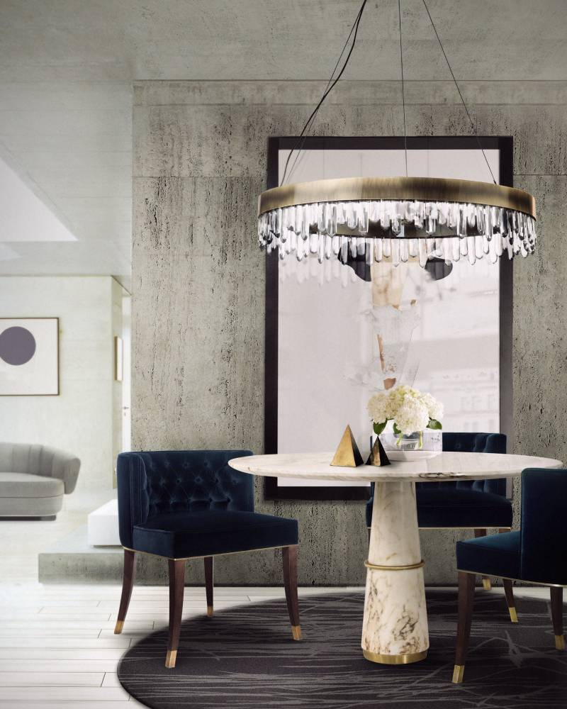 modern interior projects from the top designers in los angeles Modern Interior Projects from the Top Designers in Los Angeles blue bourbon chair agra table dining naicca suspension light enz rug