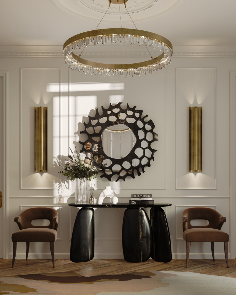Modern Interior Design Ideas by Art Deco Design modern interior design ideas by art deco design Modern Interior Design Ideas by Art Deco Design Majestic Entryway with hand painted ARDARA II Console 2