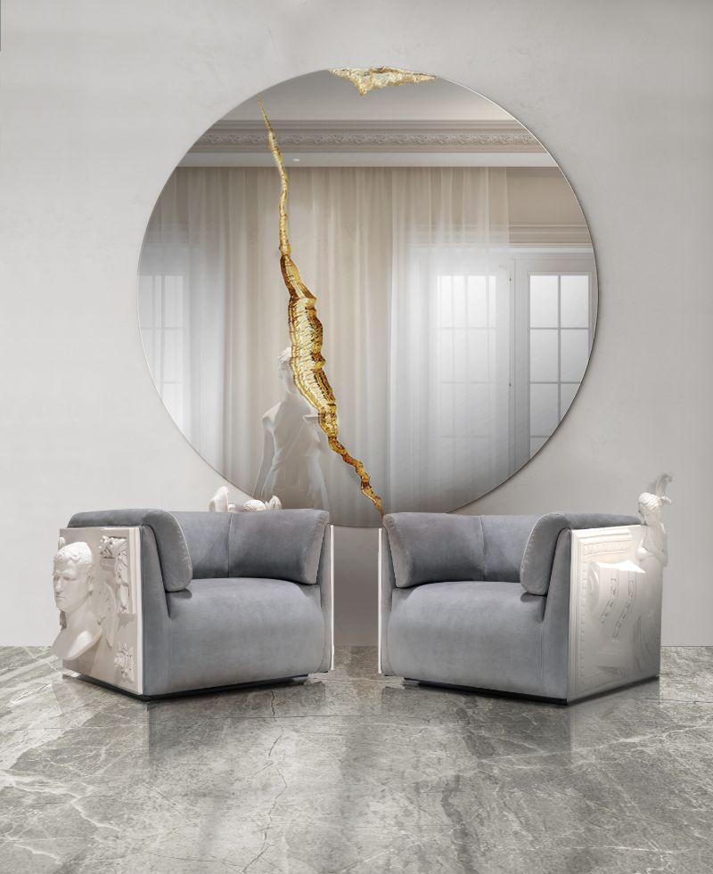 entryway and hallway design Entryway and Hallway Design: Modern Decor, Elegant and Sophisticated Entryway and Hallway Design Modern Decor Elegant and Sophisticated grey upholstered armchairs 3