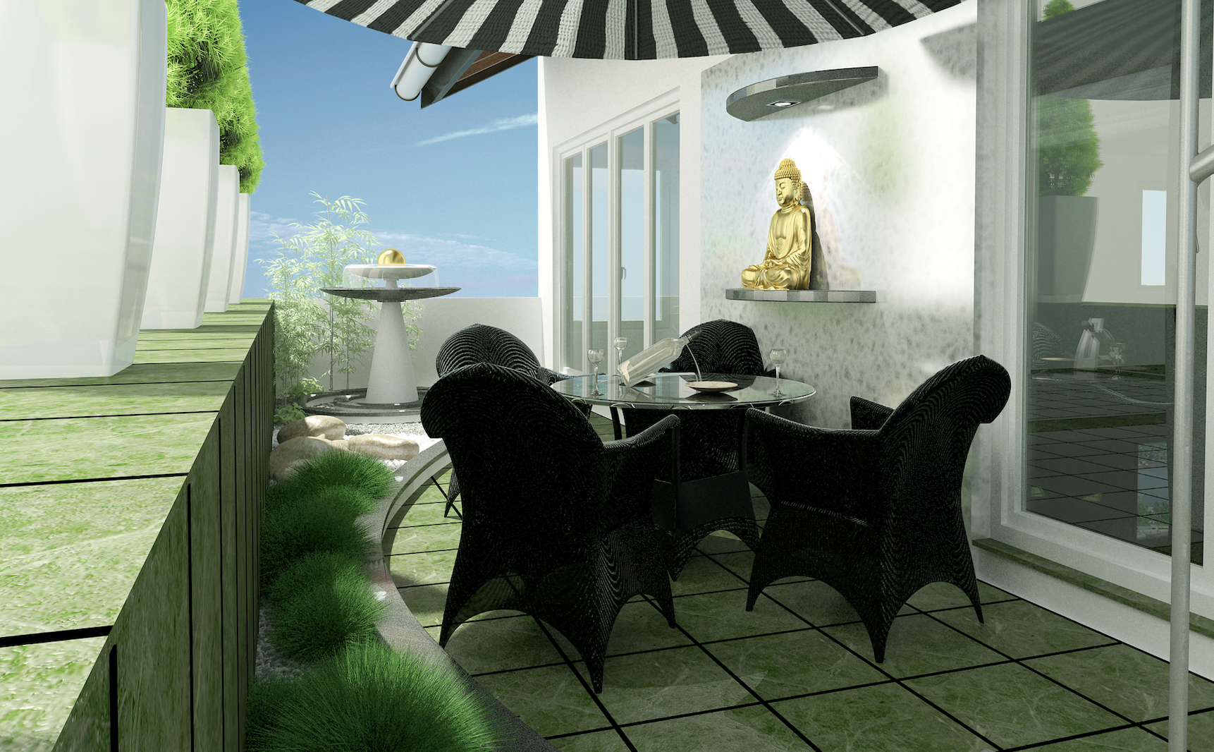karla chacon Karla Chacon: Glamorous Modern Interior Design Ideas Karla Cachon May roof garden Hanoi Vietnam
