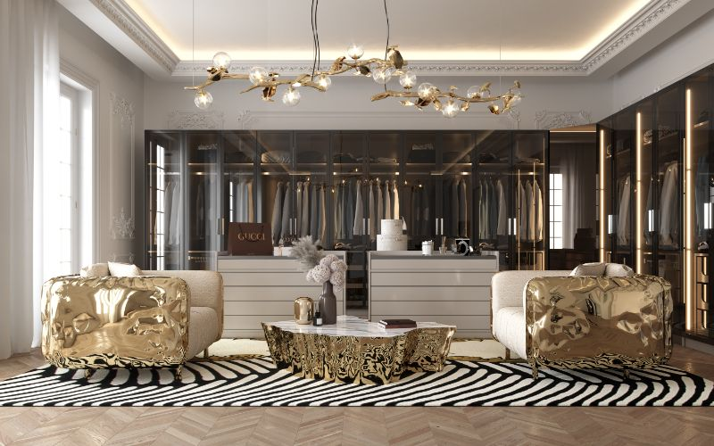 Modern Bedroom and Closet Design Sophisticated & Timeless 1 gold center table modern bedroom and closet design Modern Bedroom and Closet Design: Sophisticated & Timeless Modern Bedroom and Closet Design Sophisticated Timeless 1 gold center table 1