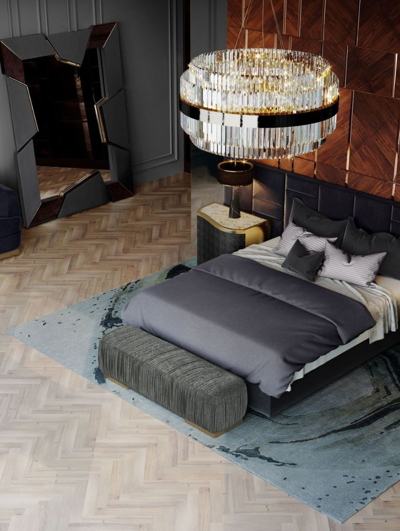 modern bedroom and closet design Modern Bedroom and Closet Design: Sophisticated & Timeless Modern Bedroom and Closet Design Sophisticated Timeless 10 black headboard