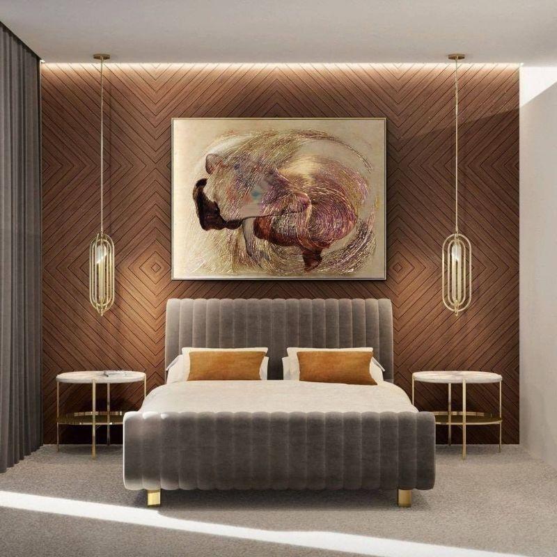 modern bedroom and closet design Modern Bedroom and Closet Design: Sophisticated & Timeless Modern Bedroom and Closet Design Sophisticated Timeless 14 grey velvet bed