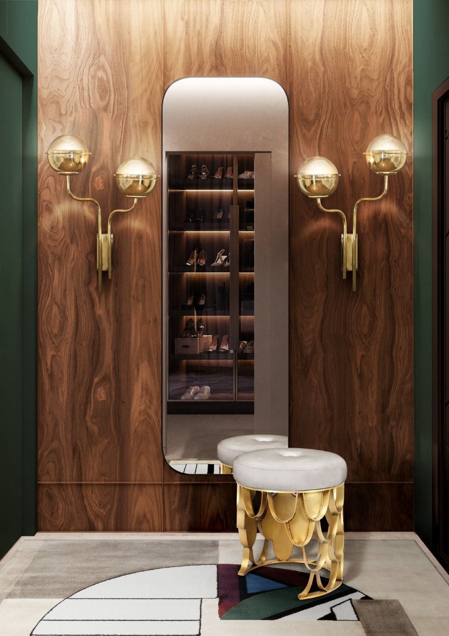 modern bedroom and closet design Modern Bedroom and Closet Design: Sophisticated & Timeless Modern Bedroom and Closet Design Sophisticated Timeless 15 modern closet with upholstered stool