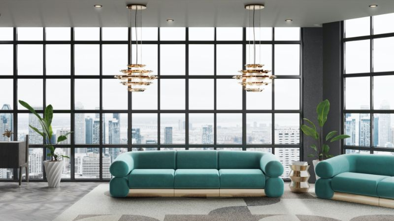 modern living room ideas Modern Living Room Ideas: Sophisticated, Comfortable and Fierce Design Modern Living Room Ideas Sophisticated Comfortable and Fierce Design 4 blue velvet sofa