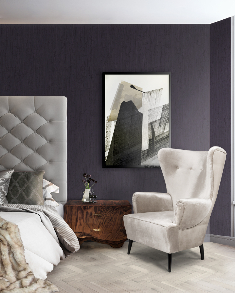 the best interior design ideas Raquel Chamorro: The Best Interior Design Ideas bedroom clerk armchair huang bed side 2