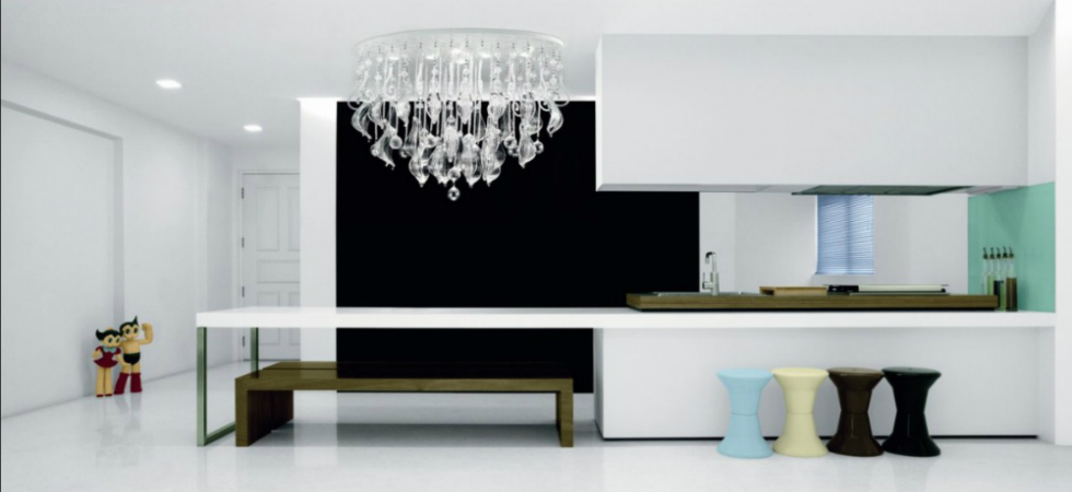 For each room, a different lighting optionFor each room a different lighting option