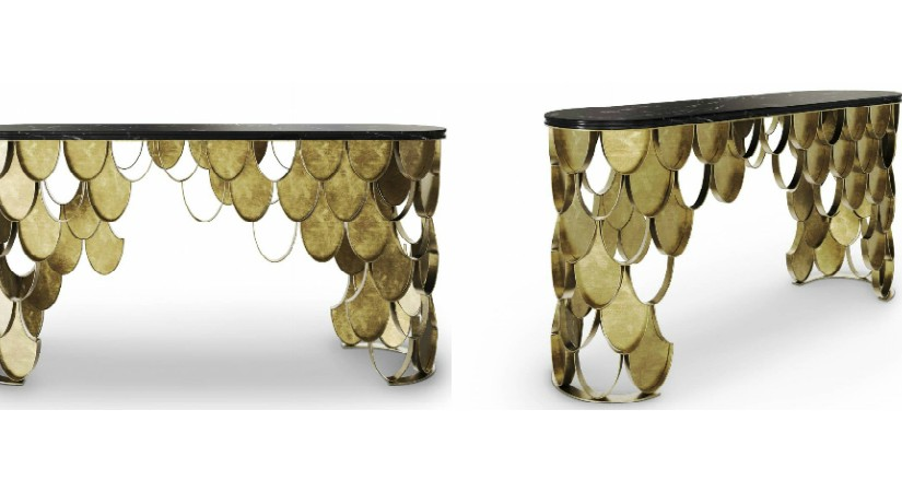 New Brass Console Table by BRABBU it's the new member of KOI FamilyNew Brass Console Table by BRABBU it   s the new member of KOI Family 825x450