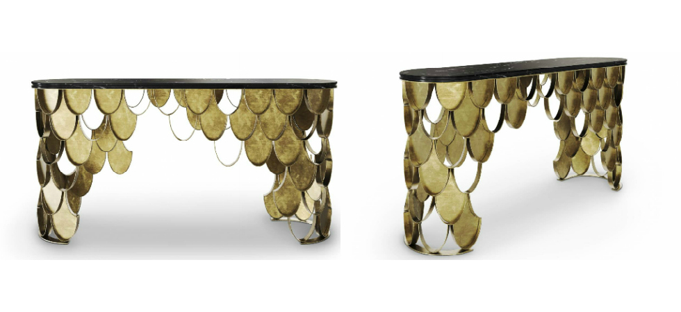 New Brass Console Table by BRABBU it's the new member of KOI FamilyNew Brass Console Table by BRABBU it   s the new member of KOI Family