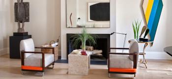 Interior designer Sandra Nunnerley decorates her own apartment