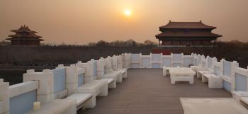 The use of translucent blocks in a Beijing tea house by Japanese architect Kengo Kuma